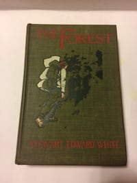 Vintage THE FOREST by Stewart Edward White 1903 1st Edition Illustr by T Fogarty Wilmington