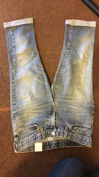 distressed blue-washed jeans Fountain Valley, 92708