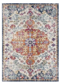 Blue Orange Bohemian Area Rug 7x10 Bethesda, 20816