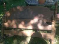 Antique head and foot board to full size wood bed
