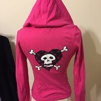 Avril Lavigne zip up hoodie Small