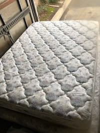 Matress and box spring in very good condition double sided pillow top no stains at all very comfortable asking 120