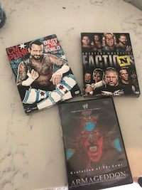 WWE three DVD's collections