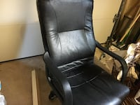 black leather office rolling armchair 513 km