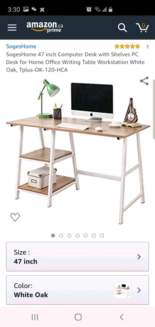 Computer or laptop or writing table