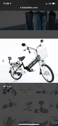 """Electric leafy bike night collection for details go to """"leafy bike .com""""in perfect conditions Fort Lauderdale, 33308"""