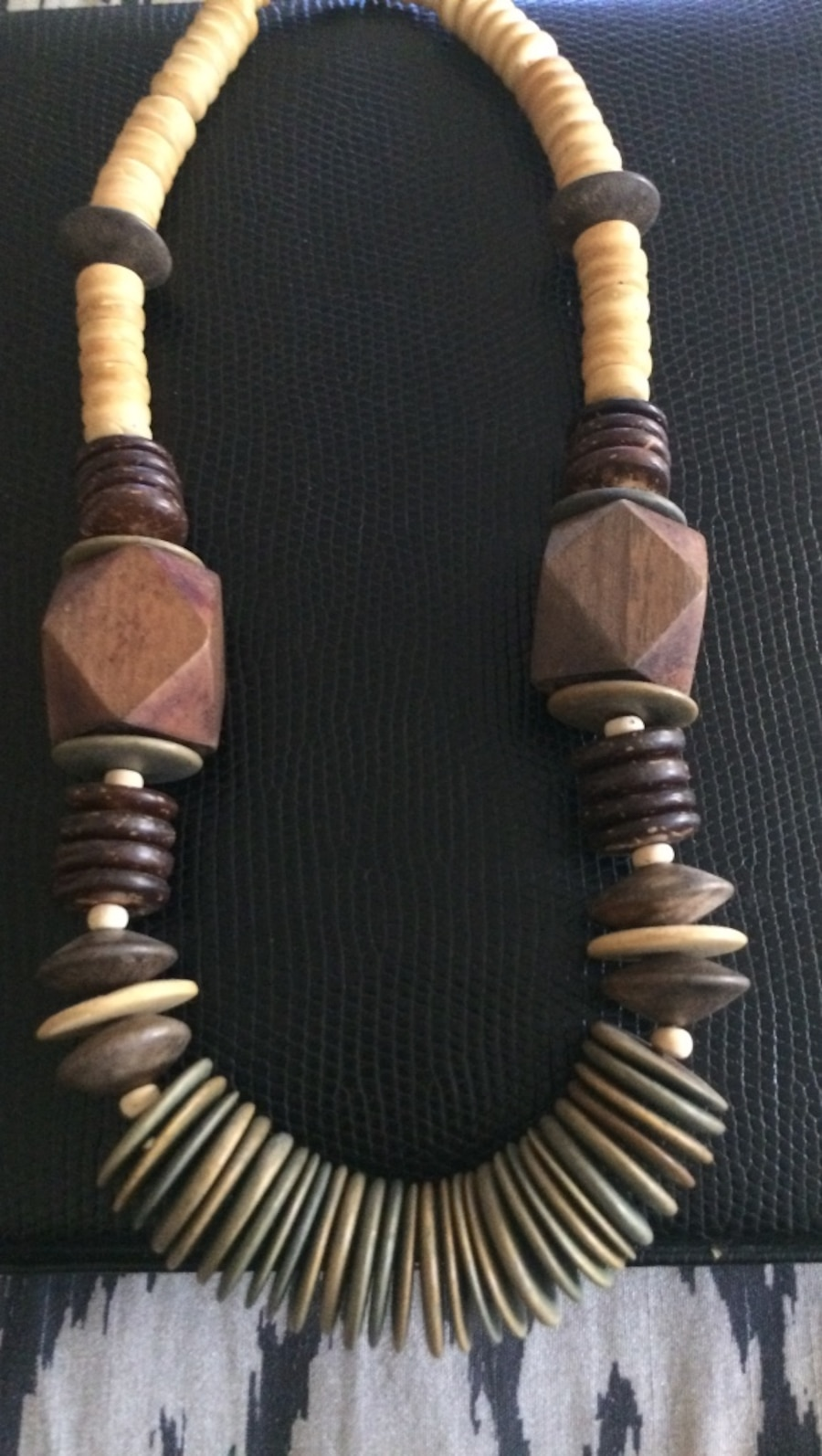 Earth tone beaded necklace