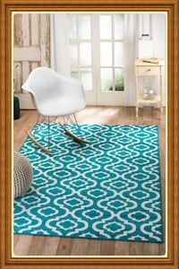 new modern style Area Rug size 8x11 very pretty carpet color Turquoise Arlington, 22203
