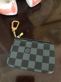 Black LV Monogram Coin Pouch Kensington, 20895
