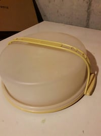 white and yellow plastic food container