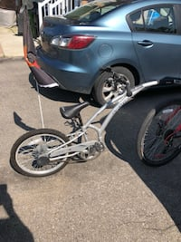 Gray bicycle Trailer for kids