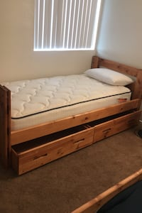 Two twin beds for sale mattress included ***NEED TO PICK UP**