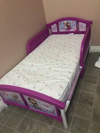 white and purple bed frame Oceanside, 92054