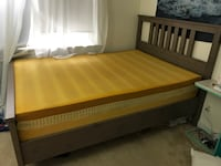 Memory foam mattress with bed frame- like new! Bethesda, 20814