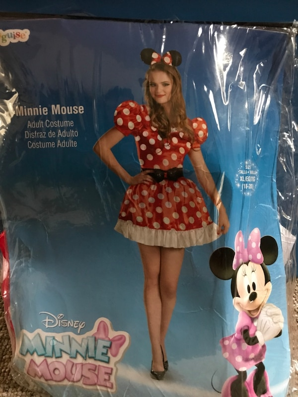 Plus size adult Minnie Mouse costume- sz18-20/XL