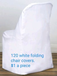White folding chair covers Reynolds, 47980