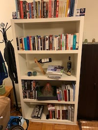 Large, sturdy white bookshelf Arlington, 22209