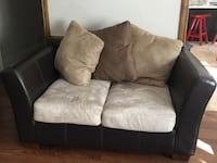 Black and gray fabric loveseat and 3 seater Mississauga, L5B
