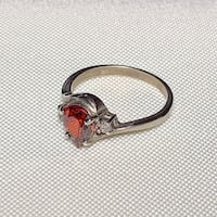 Vintage Sterling Silver Ruby Ring Ashburn