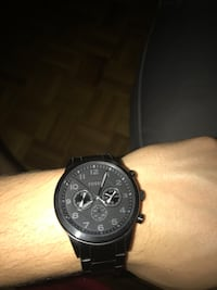 Black Fossil watch, 8/10 condition. Toronto, M4C 5N1