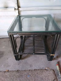 Glass too side table