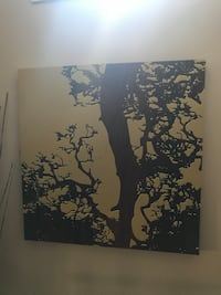 Brown and beige tree painting