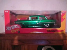 HOT WHEELS (COLLECTOR CAR)  1955 Chevorlet  2 door post.