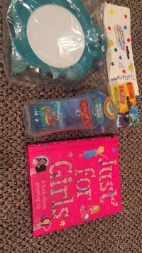 Only $5 each. Gerber brand new Tambouribe, just for Girls brand new a book about growing up, Nuby insulated child's cup  Vaughan, L4J 5L7