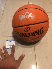 Magic Johnson signed ball