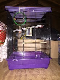 Black and purple bird cage  14 in high  x 22 in tall Lacey Township