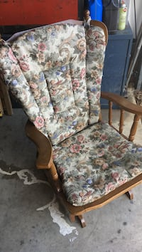 White and pink floral padded armchair Rogers, 72756