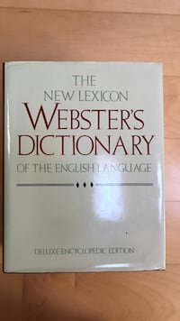 The new lexicon webster's dictionary Toronto, M6L 1L1