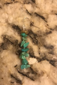 Turquoise pendant earring a-handmade by local artist