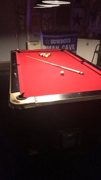 red and black billiard table Sachse, 75048
