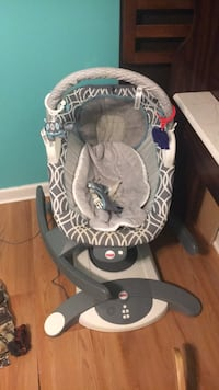 baby's gray and white cradle and swing Sumter, 29154