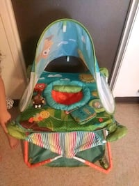 baby's green and blue bouncer 2336 mi