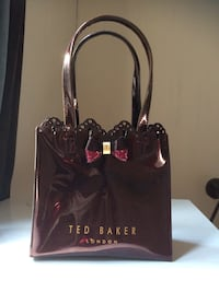 brown leather Ted Baker London print tote bag Halifax, B3H 3B8