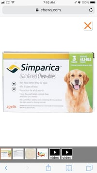 Simparica Flea & Tick for sale any size dog!!  Phenix City, 36867