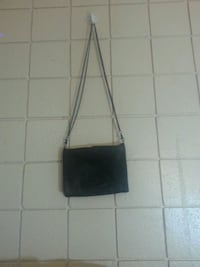 black and gray leather crossbody bag Calgary, T2H 1B7