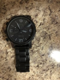 round black Fossil chronograph watch with link bracelet Mississauga, L4Z