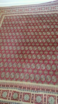 red and white floral area rug Toronto, M3J 3M4