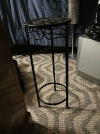 Black metal framed glass top side table Sylvan Lake, T4S 0C4