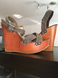 Wedge Wrap Sandals, size 6.5 Vancouver, V6A