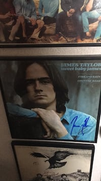 signed james taylor album with frame and COA  Arcadia, 46030