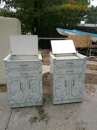 two white wooden 4-drawer chests Lakewood, 80215