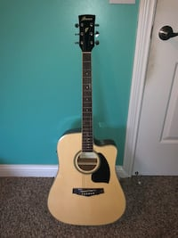 Acoustic electric Ibanez guitar