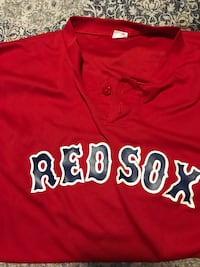 Red red sox-printed baseball jersey  Compton, 90221