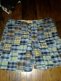 blue yellow and  plaid short size 38