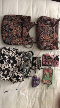 Vera Bradley purses, book cover, wristlet and coin purse. Selling all for $50, if you're interested in 1 item price can be negotiable.
