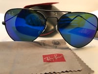 silver framed Ray-Ban aviator sunglasses with case Land O Lakes, 34637